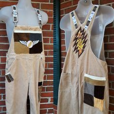 Your place to buy and sell all things handmade Old Navy Overalls, Overalls Vintage, Grateful Dead, Handmade Clothes, Wearable Art, Corduroy, Thrifting, Upcycle, Applique