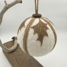 up-cycled recycled decor, up-cycled ornament,recycled ornament, burlap decor,burlap Christmas decor,sweater ornament,Christmas ornament by WobblyWelliesStudio on Etsy https://www.etsy.com/listing/473508848/up-cycled-recycled-decor-up-cycled