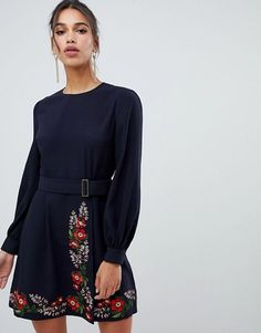 f232c5691efd Ted Baker Siliia Kirstenbosch Embroidered Wrap Dress