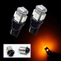 2x T10 W5W 194 5SMD 5050  Color:#yellow