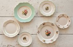Our Mix and Match Dinnerware are patterned dishes that are inspired by Vintage Dishes. For more farmhouse kitchen decor visit Decor Steals at www.decorsteals.com OR www.facebook.com/DecorSteals #MixandMatchDinnerware #VintageDishes #DecorSteals