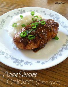 Blogghetti: Asian Sesame Chicken (Crockpot)