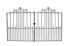 PAIR OF ANTIQUE WROUGHT IRON DRIVE GATES - UK Architectural Heritage - 302cm