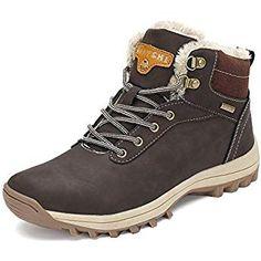 4af69ba8a76833 Pastaza Gefüttert Winterstiefel Wasserdicht Wanderschuhe Herren Warme  Winterschuhe Männer Rutschfest Outdoor Leder Boots Braun