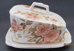 ANTIQUE CERAMIC CHEESE DISH, KEELING & CO.,(staffs) c.1890