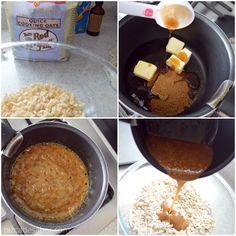 Barritas de granola caseras (sin prender el horno y fáciles) | http://www.pizcadesabor.com/2013/08/12/barritas-de-granola-caseras-sin-prender-el-horno-sin-gluten-y-faciles/