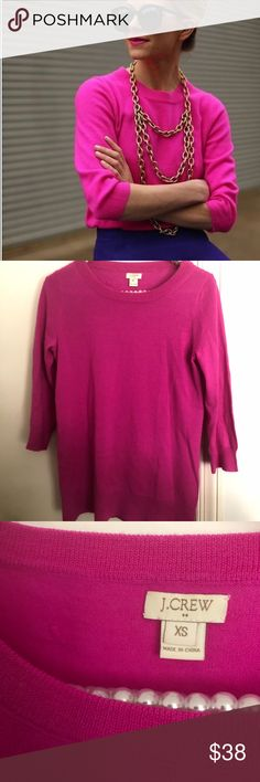 {J.Crew} merino charley sweater PRODUCT DETAILS Merino wool. Hits at hip. Three-quarter sleeves. Dry clean. Great condition some pilling throughout sweater some pulls as pictured please see pictures for accuracy of condition, from factory J. Crew Sweaters Crew & Scoop Necks