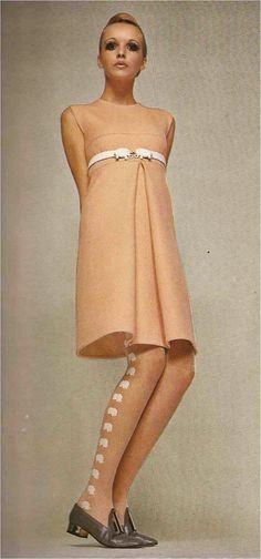 Such a pretty dress -Designer, Antonelli - Linea Italiana fall | winter, 1968-69.