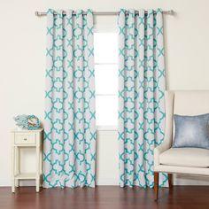 Best Home Fashion Reverse Moroccan Room Darkening Curtains