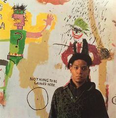 Jean-Michel Basquiat photographed by Tseng Kwong Chi, 1987.