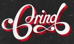 Typography by Dave Kirk, via Behance