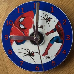 SPIDERMAN CD CLOCK Can be Personalised by RandSClocks on Etsy