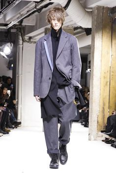 Emotional and sensitive, Yamamoto's take on elegant yet edgy menswear is always one of the Paris men's show highlights. By offering an eclectic male wardrobe that speaks to all generations, the Jap...