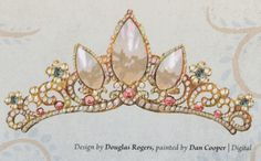 "Rapunzel's crown from ""The Art of Tangled."""
