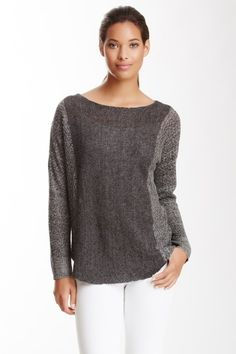 Bateau Neck Box Linen Sweater by Eileen Fisher on @HauteLook