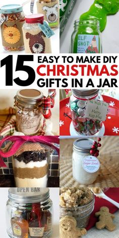 15 Mason Jar Christmas Gifts for Coworkers, friends, teachers, and family. Most of these DIY Christmas gifts in a jar are super cheap and easy to make! Perfect gift idea for women and men alike. Homemade recipes for edible gifts. Diy Christmas Gifts For Coworkers, Diy Gifts In A Jar, Mason Jar Christmas Gifts, Diy Christmas Gifts For Family, Christmas On A Budget, Xmas Presents, Christmas Decor, Christmas Ideas, Family Gifts