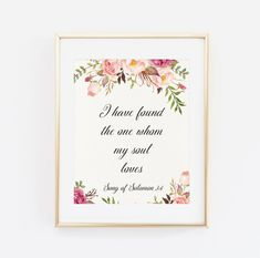 I have found the one whom my soul loves Printable by BaloeDesigns
