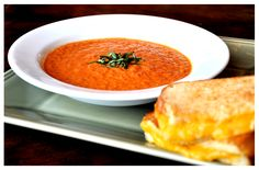 Tomato Soup with Triple Grilled Cheese