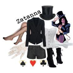 """Zatanna Zatara (DC Comics)"" by likeghostsinthesnow on Polyvore Graphic Novel fashion Won 3rd place!"