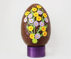 Solid belgian chocolate easter egg easter and spring gifts giant chocolate egg hand decorated with piping easter and spring gifts christys gourmet gifts negle Gallery