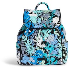 Vera Bradley Drawstring Backpack in Camofloral ($98) ❤ liked on Polyvore featuring bags, backpacks, camofloral, vera bradley backpack, rucksack bag, blue bag, backpacks bags and vera bradley