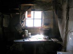 Abandoned earthen hermit cabin in Sweden.
