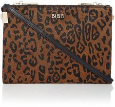 Biba Addison double zip crossbody handbag, Leopard