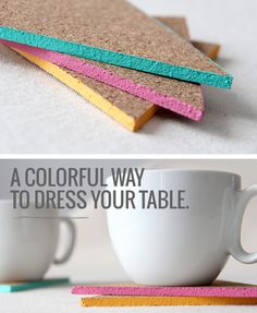 DIY: COLORED EDGE COASTERS