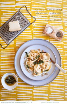 Butternut and 3 Cheese Ravioli with Sage Butter by van der Merwe Photography: Adams Adams Seccombe Styling:. Curry Recipes, Veggie Recipes, Wine Recipes, Pasta Recipes, Vegetarian Recipes, Veggie Meals, Paella, Sage Butter, Cheese Ravioli
