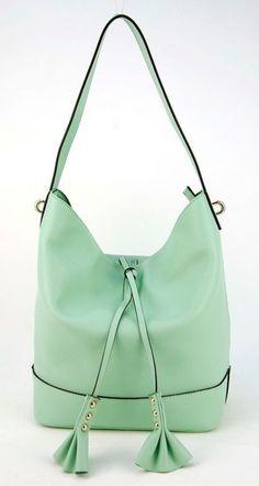 d3af7bd2ac Women Genuine Leather Tassel Bucket Handbag Purse Hobo Shoulder Designer  Duffle