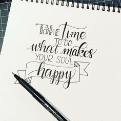 Spent most of the day being a taxi for the kiddo- but wanted to make sure to do this one. especially since I feel that lettering makes my souls happy! Hand Lettering Quotes, Calligraphy Quotes, Calligraphy Letters, Typography Quotes, Modern Calligraphy, Doodle Quotes, Art Quotes, Inspirational Quotes, Quote Art
