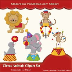 Circus Animals Clip Art Clipart