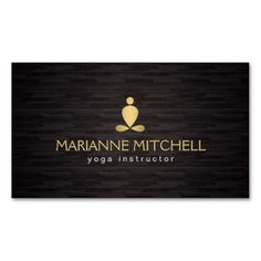 Serene Yoga Meditation Zen Wood Background Business Card