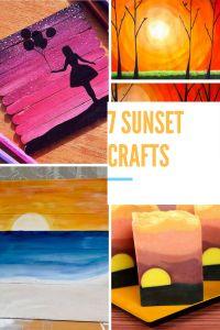 Seven sunset crafts!