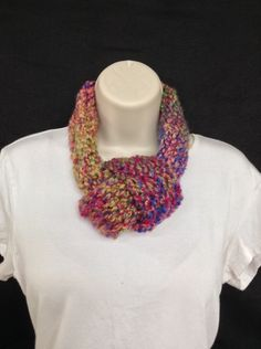 Hand made loom knitted adjustable infinity scarf by knittedbydesign on Etsy
