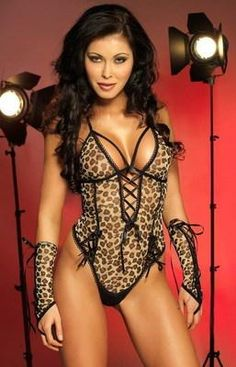 $16.99 HOT! HOT! HOT! Sexy And I Know It! Fabulous Leopard Teddy Lingerie-LC3109