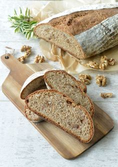 Buttermilk honey walnut loaf  bread