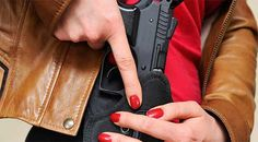 Tips For Getting Comfortable With Concealed Carry || Image Source: http://www.ammoland.com/wp-content/uploads/2016/02/Concealed-Carry-Woman-Holster.jpg
