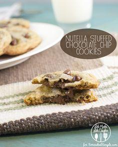 Nutella stuffed chocolate chip cookies - yum!