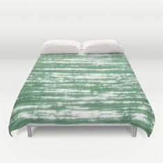 SUNDOWN GREEN Duvet Cover