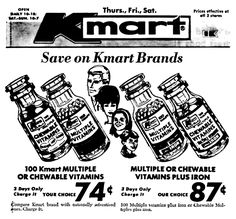 Kmart Vitamins - January 1969