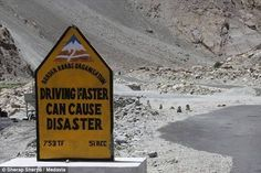 Interesting road signs on dangerous Leh-Manili highway in Himalayas, India Leh, Signs, Sign Boards, Travel, India, Pakistan, Viajes, Goa India, Regulatory Signs