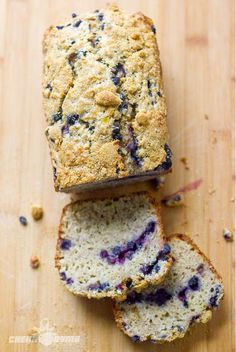 Banana Bread with Blueberries. . .154 calories per slice