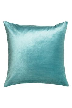 Cotton velvet cushion cover - Turquoise - Home All Turquoise Accent Chair, Throw Pillow Sets, Throw Pillows, Swan Chair, Bungalow Renovation, Hm Home, Velvet Cushions, Blue Bedroom, Find Furniture