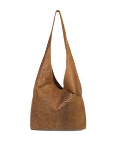 3f13cbe801b6 Kooba perf leather Cecilia Sling hobo bag in caramel with gunmetal hardware.