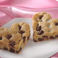 NESTLÉ® TOLL HOUSE® Chocolate Chip Cookie Hearts - cute idea cook in pan and then cut while warm into heart shapes.