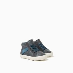 Image 2 of CONTRAST HIGH-TOP SNEAKERS from Zara