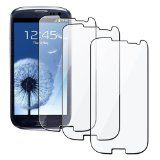 Exponentc High Quality Clear Screen Protector Shield for the Samsung Galaxy S3 S III i9300 - 3 Pack $15.99 $1.40