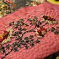 Une Passiflore en instance de montage .... Edelweiss, Nordeska, l'oiseau et les Purples ...;trop belles toutes ces pochettes et toutes...