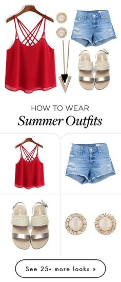 """Casual Summer Outfit"" by deloom on Polyvore featuring rag & bone/JEAN, Chicnova Fashion and Kate Spade"
